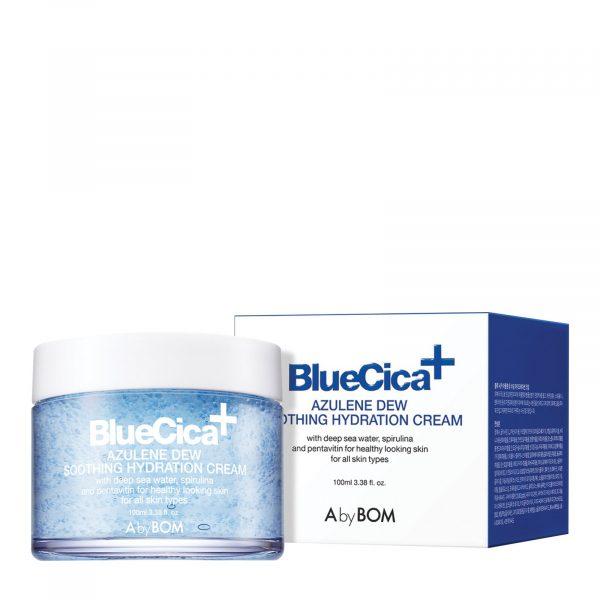 A By Bom - Blue Cica+ Azulene Dew Soothing Hydration Cream 100ML