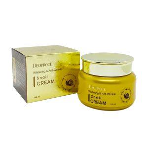 Deoproce Snail Whitening & Anti wrinkle Cream