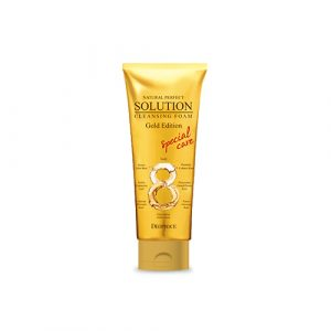 Deoproce Natural Perfect Solution Cleansing Foam Gold Edition
